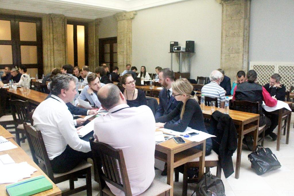 Dopolední mezinárodní workshop v budově Ministerstva Průmyslu a Obchodu ČR