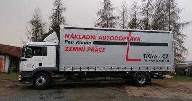 Nákladní autodoprava Petr Kouba přijme řidiče skupiny C, C+E